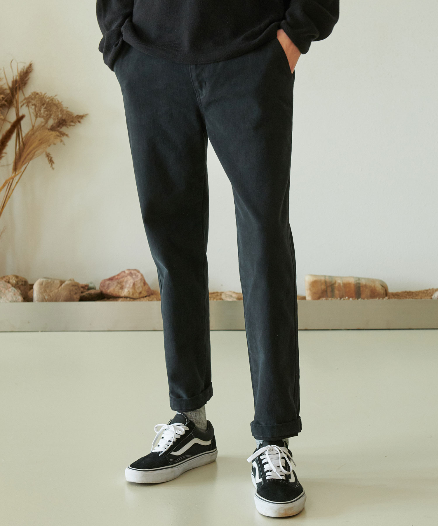 CP-769 LYCRA Tapered Pants_BK