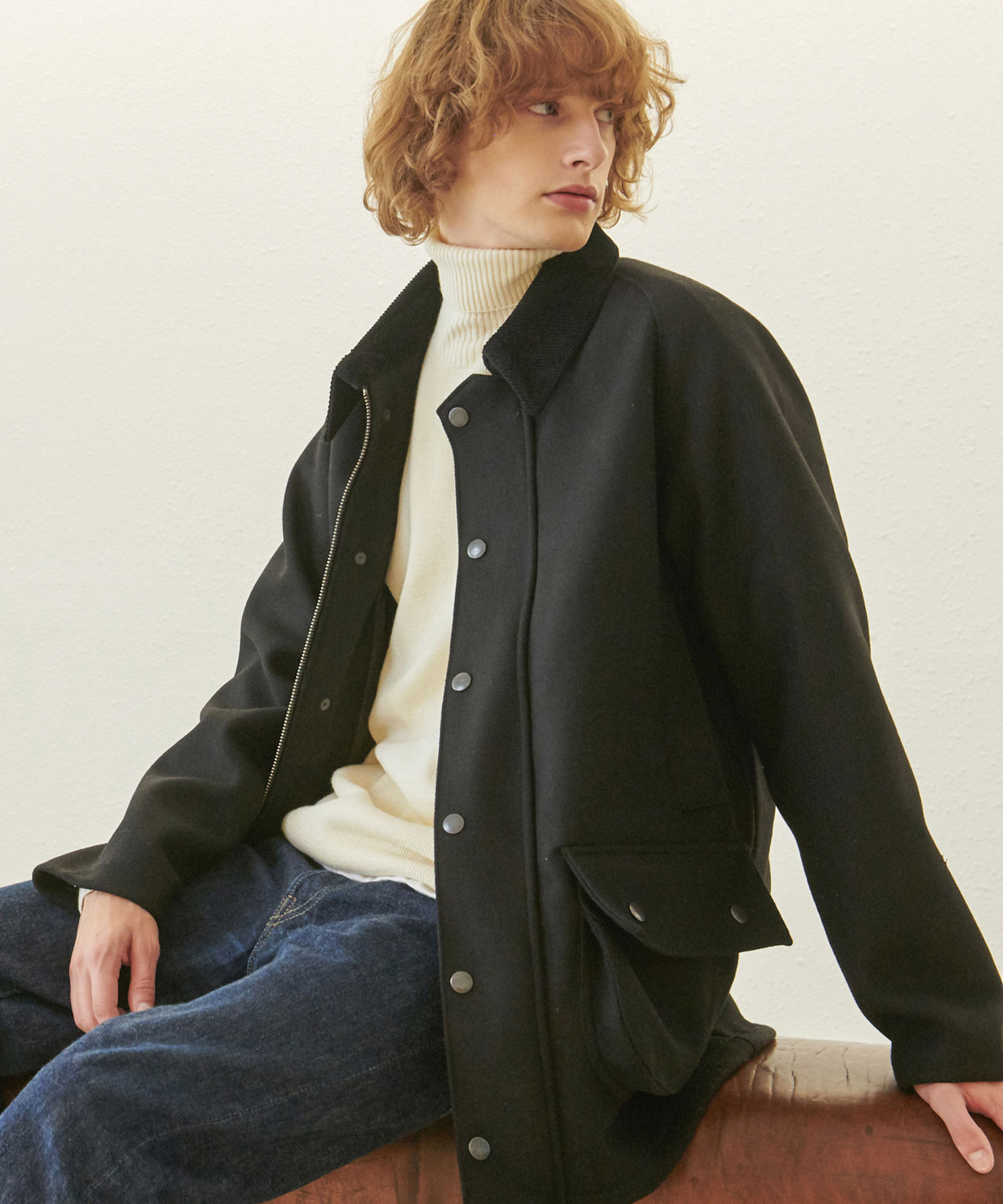 HC-15 C/W-hunter half Coat_BK