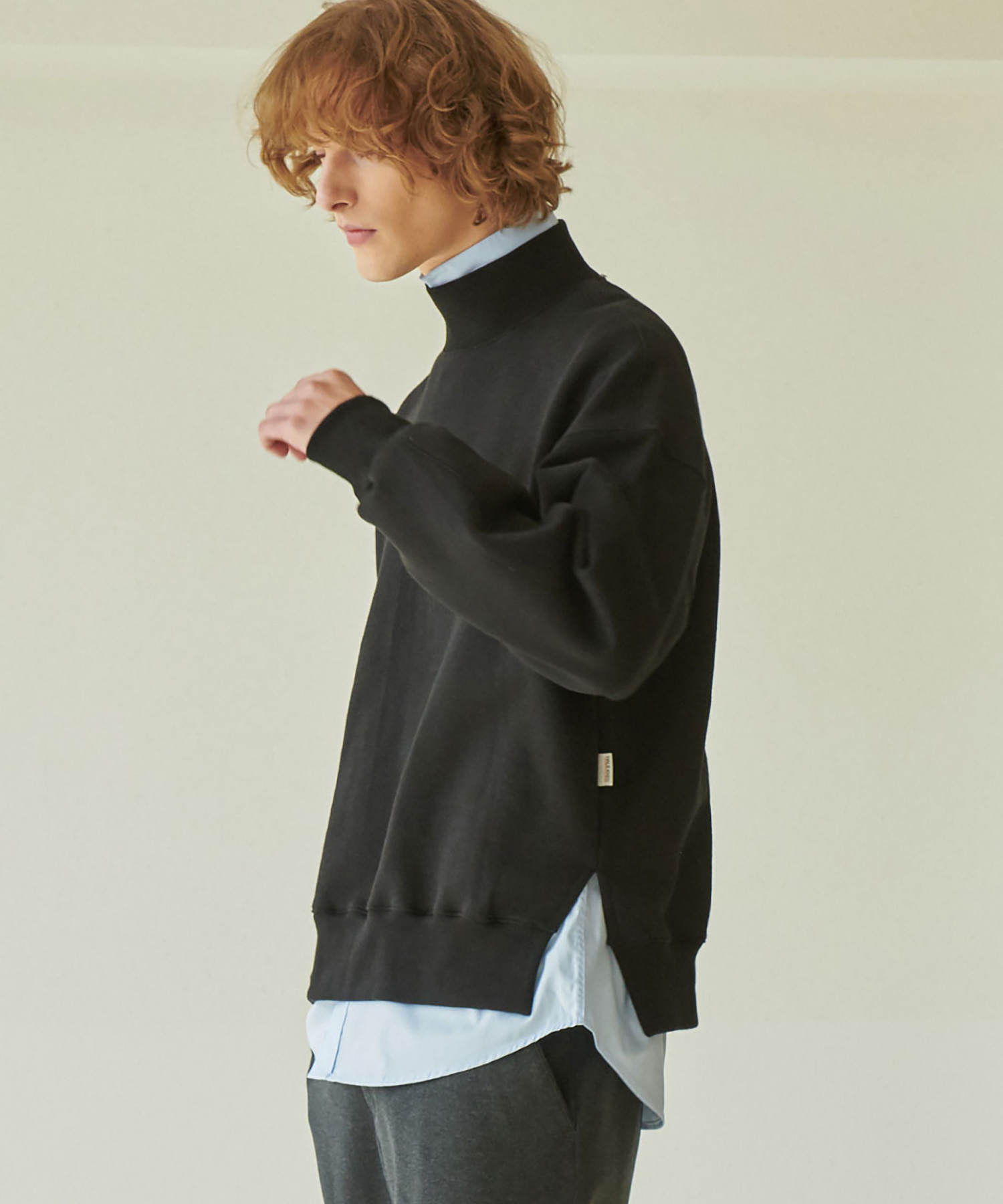 TA-130 B-TURTLE NECK MTM_BK
