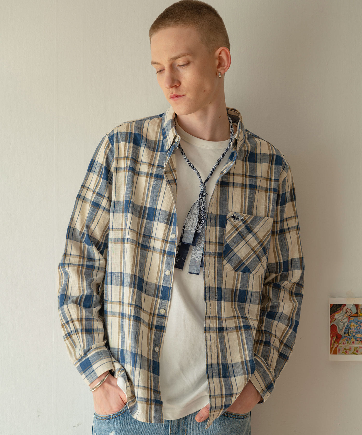 SH-553 B Check Shirts_BL